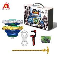 Nado – Toupie avec lanceur, série Gyro Infinity Nado 3 Crack pour enfant, jouet Beyblade, véhicules qui se transforment, fente, rotation