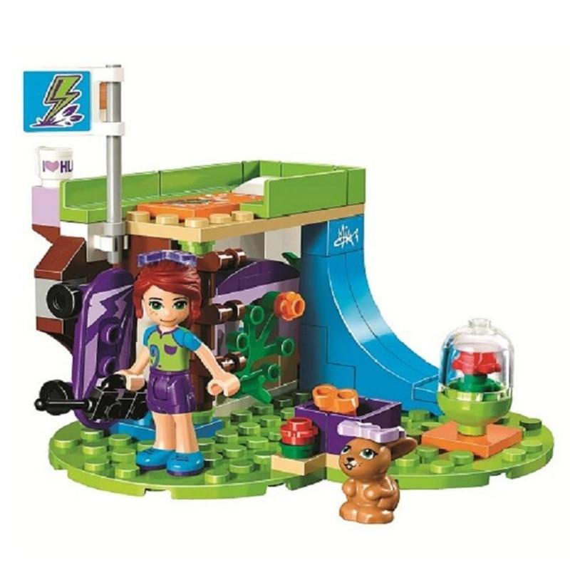 Girls Friends 10848 88pcs Mia's Bedroom Study Slide Building Blocks Kids Bricks Toys For Children Compatible Legoinglys 41327