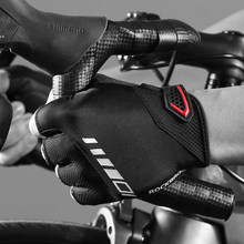 ROCKBROS Gloves Men's Half Finger Shockproof  Sports Bike Gloves Silicone MTB Bicycle Gloves Summer Racing Cycling стоимость