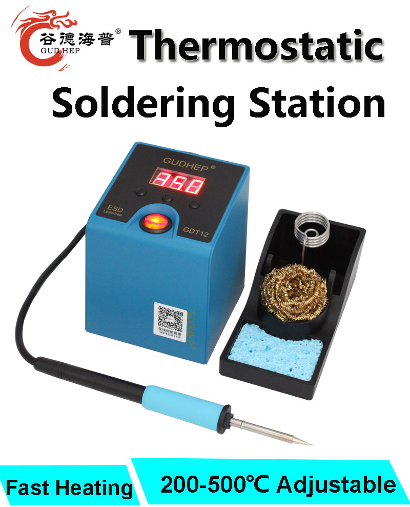 T12 Soldering Station Thermostatic Gudhep Station Rework Soldering Iron New T12 Tips Soldering 120W Iron