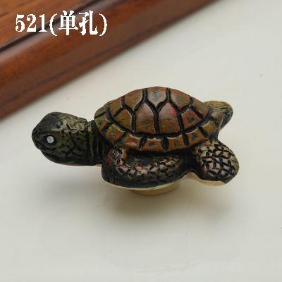 1 шт. морская серия полимерные ручки тянет ручка ящика шкафа и ручка для домашнего оборудования дверные ручки для мебели морская Морская звезда - Цвет: 521 tortoise