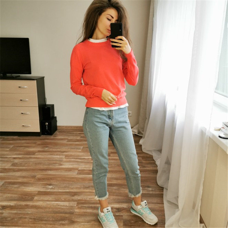 GCAROL 19 Fall Winter Candy Knit Jumper Women 30% Wool Sweater Soft Stretch OL Render Knit Pullover Knitwear S-3XL 13