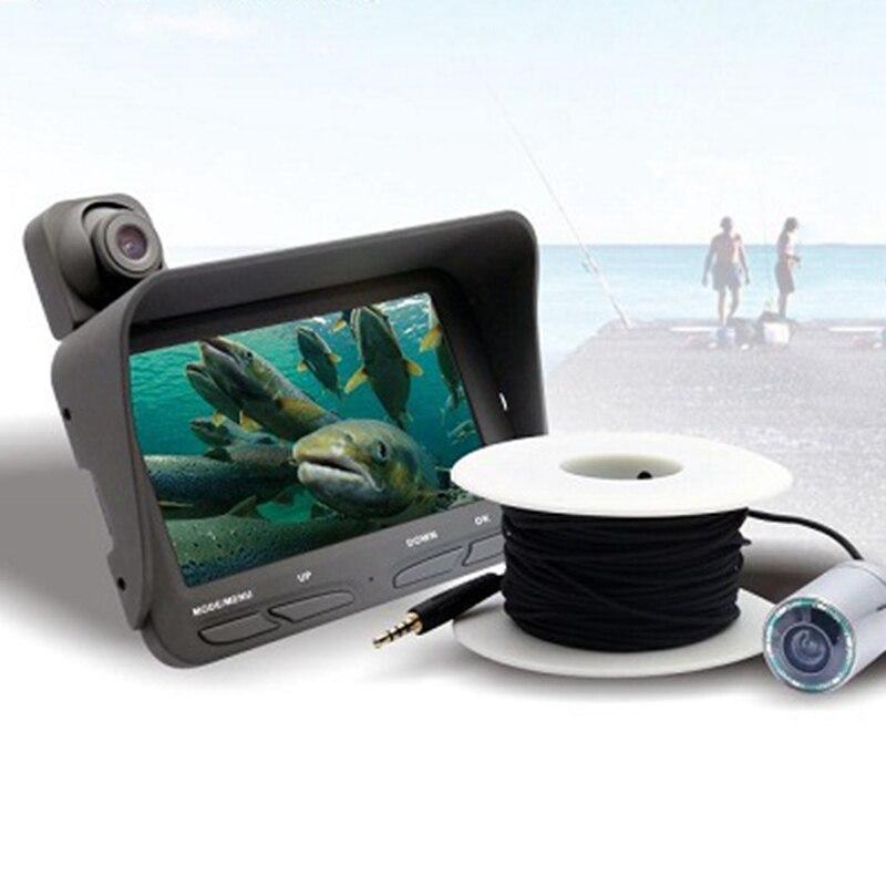 Megapixels 20M Cabo Fish Finder Dvr Gravador de Visão Noturna Câmera Subaquática Da Pesca do Gelo Com 720P Display Lcd, eua Plug - 6