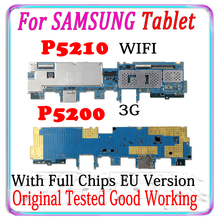 Original Unlocked For Samsung Galaxy Tab 3 10.1 P5210 WIFI P5200 3G Motherboard Eu Version Logic Board with chips Good working