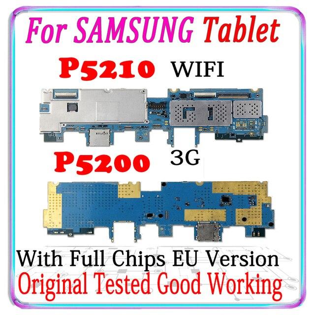 Placa base desbloqueada para Samsung Galaxy Tab 3, 10,1, P5210, WIFI, P5200, 3G, versión UE, con chips, buen funcionamiento