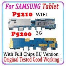 Оригинальная разблокированная материнская плата для Samsung Galaxy Tab 3 10,1 P5210 WIFI P5200 3G, европейская версия, логическая плата с чипами, хорошо работает
