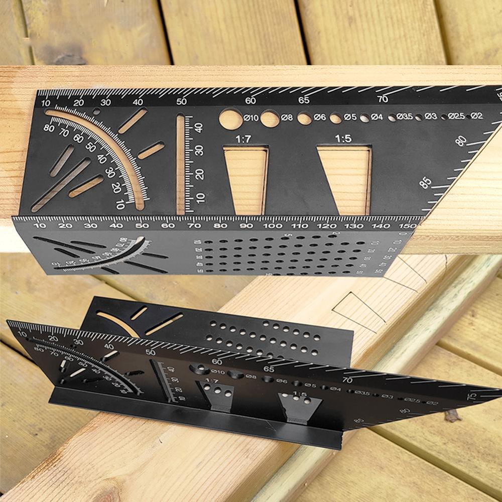 Woodworking Joints Gauge Scriber Mark Line Gauge Dovetail Maker Template Guide Tool Aluminum Alloy Marking Gauge