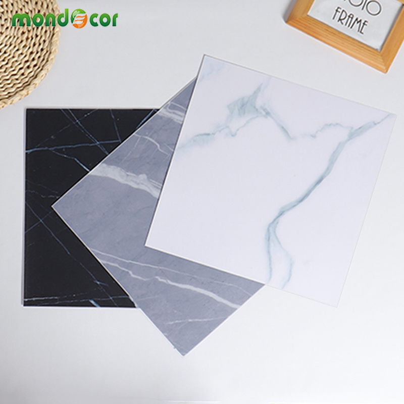 30x30cm Vinyl Self Adhesive Thicken Marble Floor Sticker Waterproof Home Decor For Living Room Kitchen Backsplash Tile Wallpaper