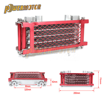 Motorcycle Oil Cooling Cooler Chinese Made Radiator Set For 50cc 70cc 90cc 110cc 125cc 140cc Horizontal Engine