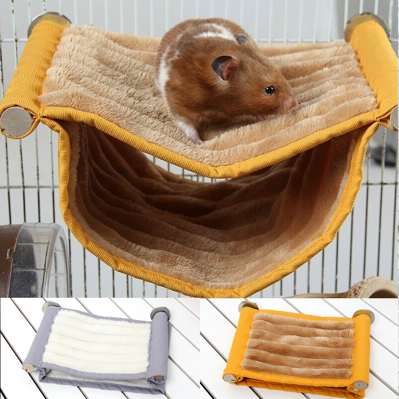 Squirrel Rat Swing Nest Cages Small Animal Hanging Cave Beds Winter Warm Soft Guinea Pig Hamster Hammock(China)