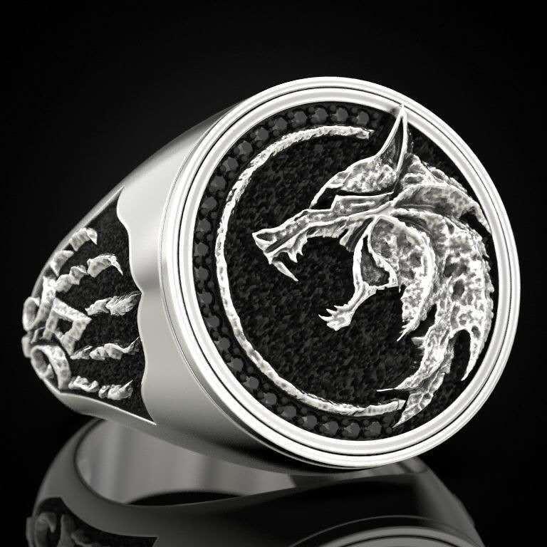 Men's Wolf Ring