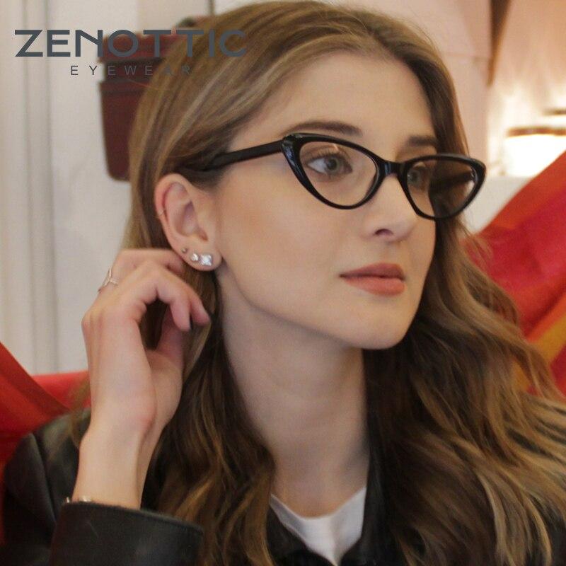 ZENOTTIC Fashion Glasses Frame Women Retro Optical Prescription Glasses Eyewear Glasses Cat Eye Eyeglasses Frames 2019 BT3022