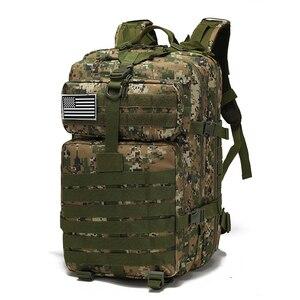 Image 2 - Военный рюкзак на шнурке 25L/35L/40L/45L, 800D, водонепроницаемый, Оксфорд, для рыбалки, охоты, кемпинга, скалолазания