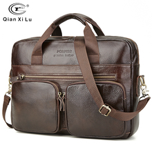 Genuine Leather Bag Famous Brand Leather Men's Bag