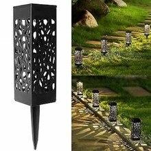 Lámpara solar de césped ahuecada al aire libre a prueba de agua, LED de detección óptica de la lámpara de césped del patio