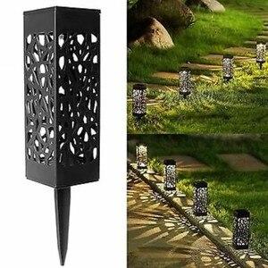 Image 1 - Waterdichte outdoor aestheticism hollow out gazon lamp solar lamp, LED optische sensing de binnenplaats gazon lamp
