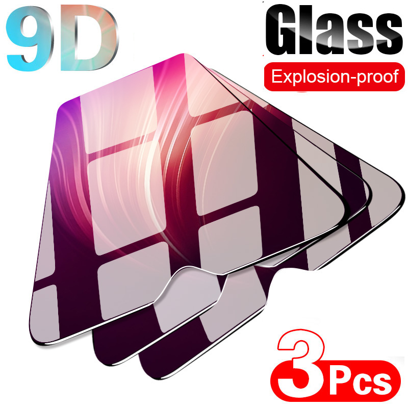 3pcs 9D screen protection Glas on The For Samsung A51 A01 A41 A71 A21 A31 A11 Tempered glass For Galaxy A 50 20 <font><b>30</b></font> <font><b>10</b></font> S 9H GLASS image