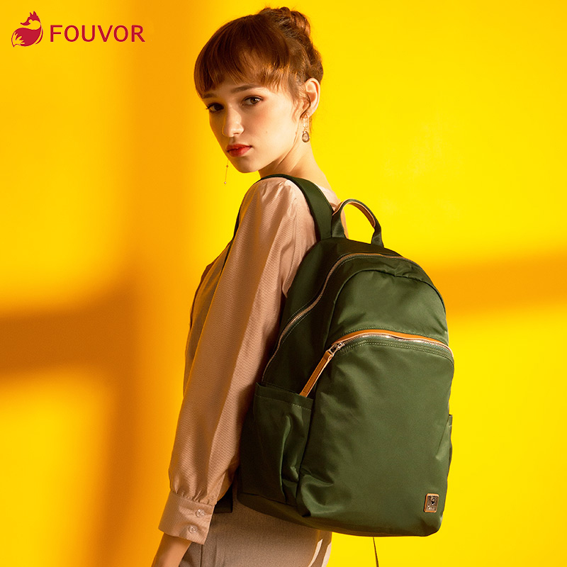 Fouvor 2019 Fashion Waterproof Oxford Simple Versatile Canvas Large Capacity Travel Backpack Business Lady School Bag 2828-14