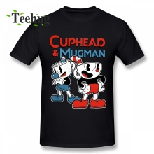 Cuphead T Shirt Male Popular Custom For Boy Pure Cotton New Arrival Summer Camiseta
