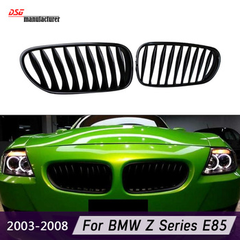 Z4 E85 E86 Abs Front Bumper Grills for Bmw E85 2003 To 2008 Roadster and E86 Coupe Convertible Kidney Grille image