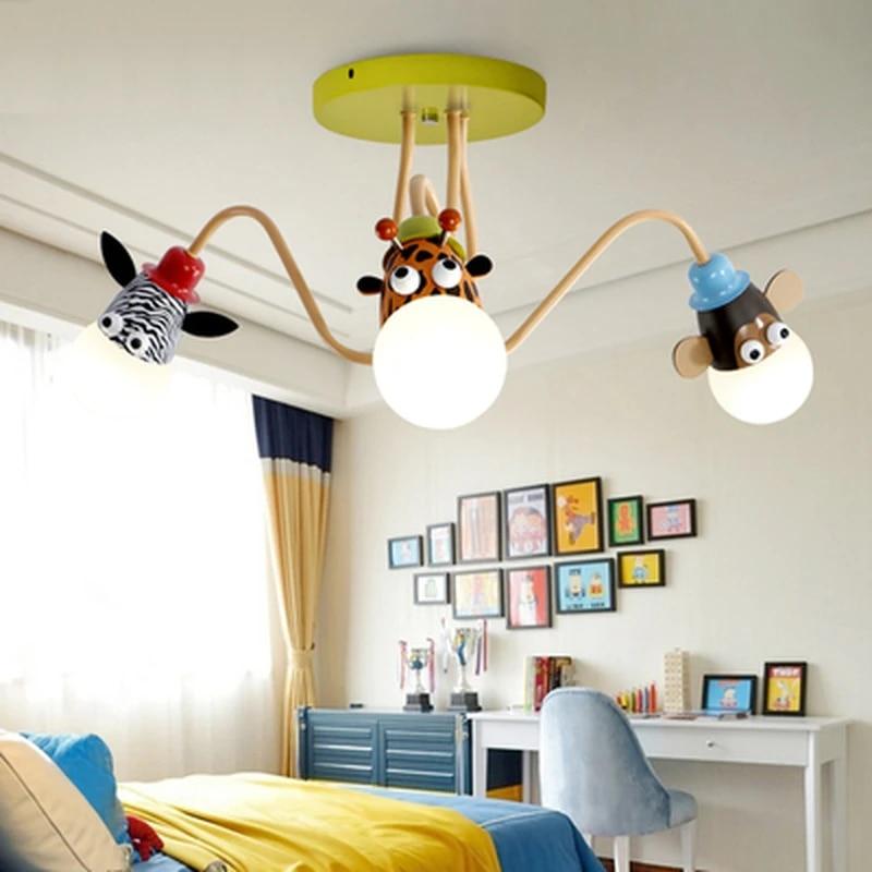 Children S Light Model Animal Giraffe Lovely Lamps For Children Rooms Child Ceiling Light Decoration Lighting For Kid Room Ceiling Lights Aliexpress