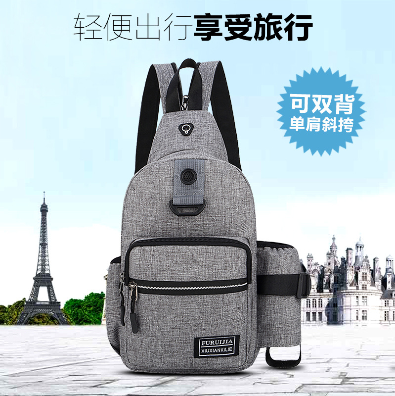 New Style Korean-style Men Small Chest Bag Multi-functional Outdoor Sports Shoulder Oblique Chest Pack Men's