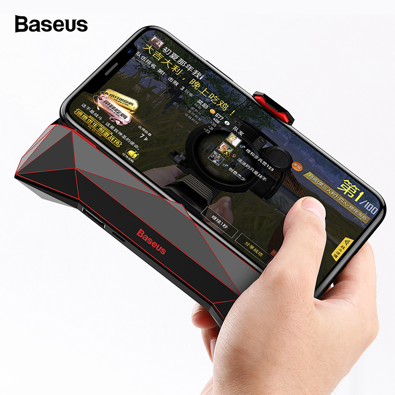 Baseus Game Phone Holder For iPhone XS MAX X Samsung S10 S9 Mobile Phone Cooler Heat Sink Cooling Game Controller Handle Holder image