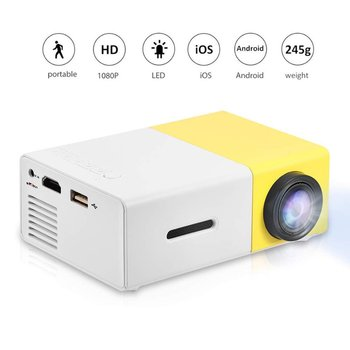YG300 Household Mini Micro Projector LED Entertainment Portable 1080 High-definition Projector Manufacturers Direct dropshipping