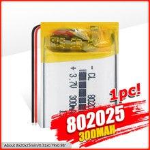 802025 3.7V 300mAh Rechargeable li-polymère Li-ion batterie pour Q50 G700S K92 G36 Y3 montre intelligente pour enfant mp3 Bluetooth casque