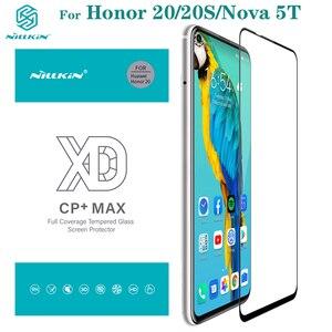 Image 1 - 強化ガラス Huawei 社の名誉 Honor 20 20S Nillkin XD CP + 最大アンチグレアフルカバレッジのためのスクリーンプロテクター huawei 社ノヴァ Nova 5T ガラスフィルム