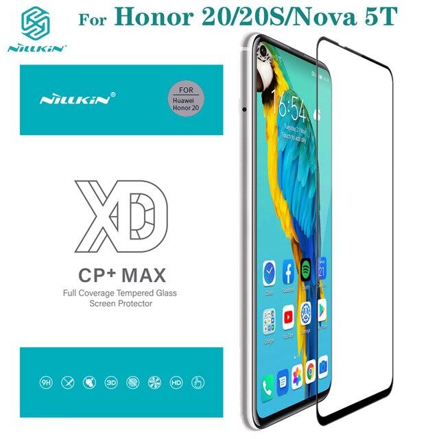 強化ガラス Huawei 社の名誉 Honor 20 20S Nillkin XD CP + 最大アンチグレアフルカバレッジのためのスクリーンプロテクター huawei 社ノヴァ Nova 5T ガラスフィルム