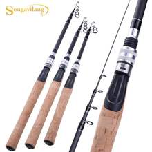 Sougayilang 1.8M 2.1M 2.4M Portable Telescopic Rod Ultralight  Carbon Fiber Fishing Rods Hard Bait Spinning Rod Fishing Tackle