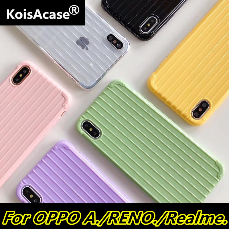 KoisAcase Soft TPU candy color Trunk <font><b>Case</b></font> For <font><b>OPPO</b></font> A37 A39 A57 A59 A71 <font><b>A77</b></font> A79 A83 A91 A9 A1K K3 RENO 2 Z Realme 3 5 Pro <font><b>Case</b></font> image
