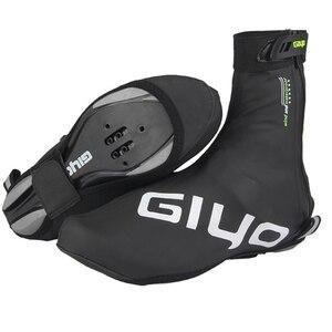 Image 2 - Protetor de sapatos para ciclismo à prova de vento, capas quentes de lã para sapatos de ciclismo com trava refletiva para inverno e estrada