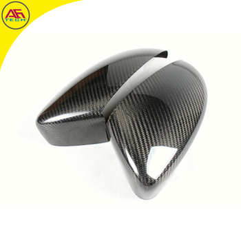 Real carbon fiber sticking type car rearview mirror covers side wing mirror caps for Volkswagen/VW Golf Mk7 GTI R20 2014+