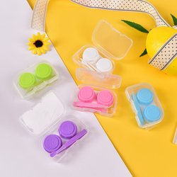 Fashion Best Transparent Pocket Plastic Contact Lens Case Travel Kit Easy Take Container Holder Random Color free shipping