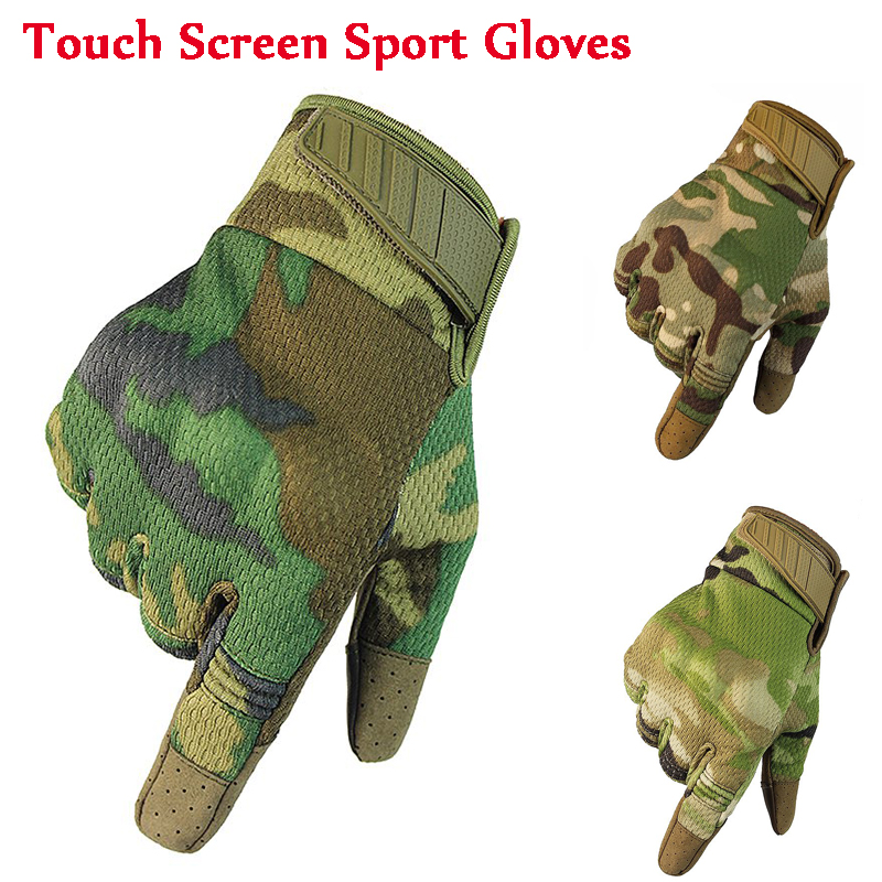 Tactical Gloves Hunting Airsoft Gloves Full Finger Touch Screen Gloves Breathable Sport Gloves Anti-skid Mountain Biking Gloves
