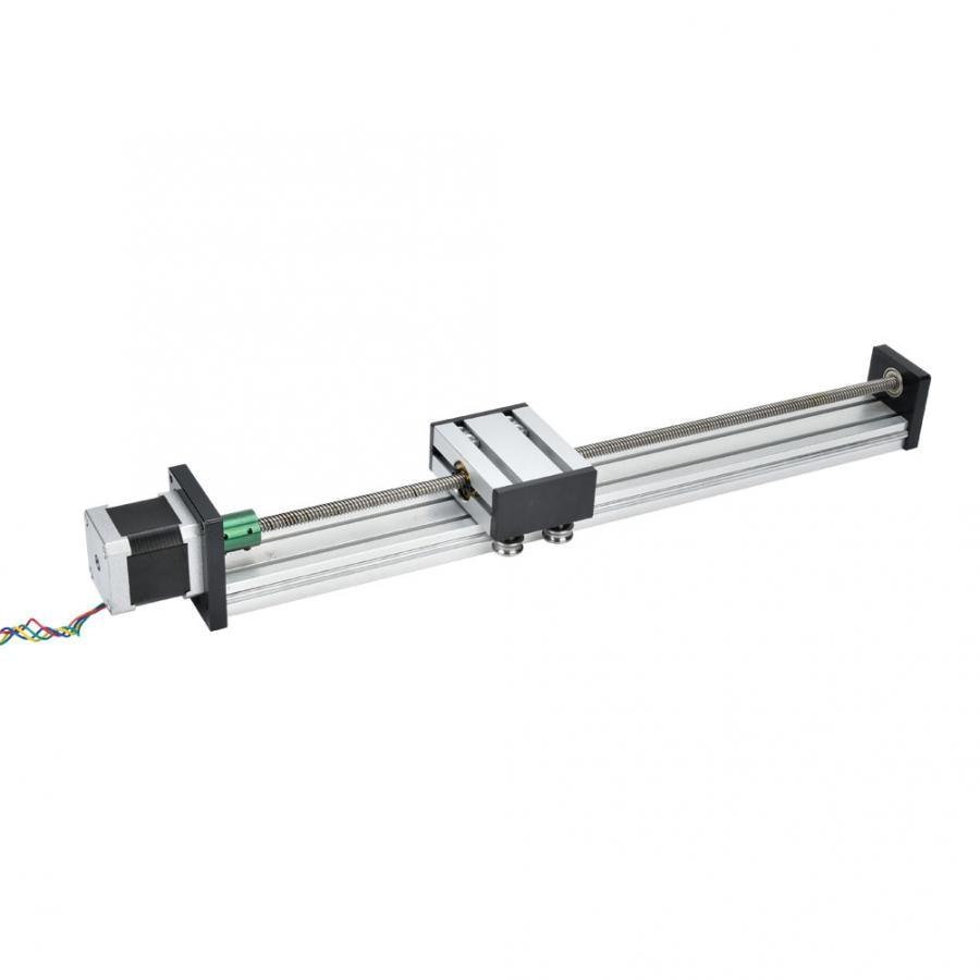 Linear Guide Aluminum Alloy 0808 Ball Screw Single Shaft Trapezoid Linear Slide Rail with 57 Motor Linear Slide