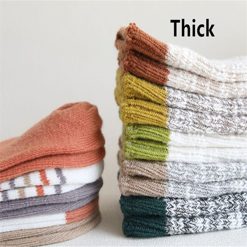Winter Baby Socks Knitted Thick Warm Socks for Girls Anti Slip Knee Baby Boy Socks Casual Winter Leg Warmers Suitable for 0-8T 6