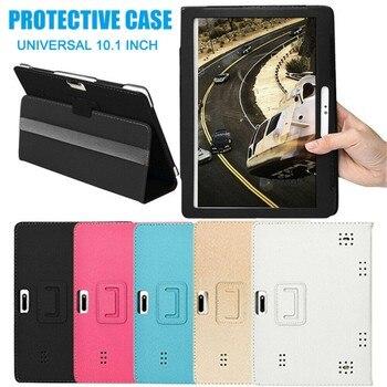 Funda Universal de piel para Tablet 10, 10,1 pulgadas, Android, PC, diseño a la moda, Protector duradero|Fundas de tablets y libros electrónicos|   -