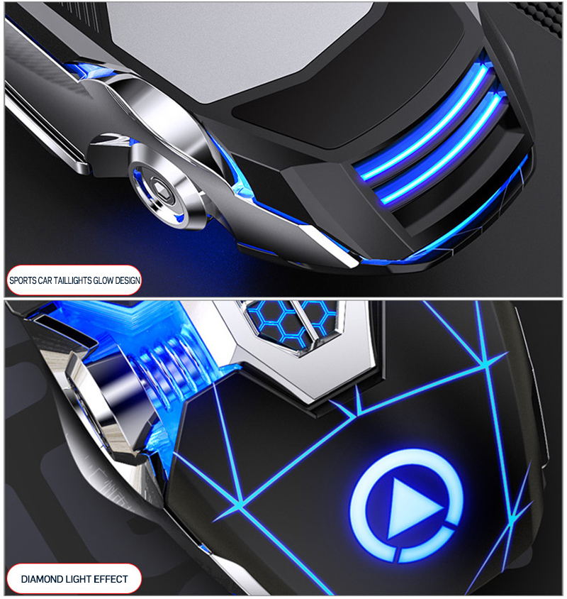 USB Glowing Clavier Game Keyboard Mouse Earphone Three Piece Set Mechanical Gaming Keyboard
