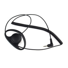 3.5MM Listen Only D Shape earphone headset Earpiece Earhook FOR SPEAKER MIC MOTOROLA KENWOOD Walkie-talkie(China)