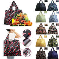 10 Casual style Pocket Square Shopping Bag Eco-friendly Foldable Reusable Portable Shoulder Oxford Tote Bag Travel Shopping Bags