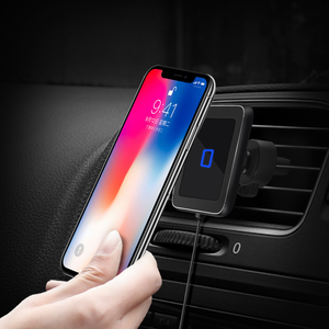 Image 3 - Wireless car charger induction usb mount for iphone 11 samsung s8 s9 car charging phone holder stand qi 10W Fast charging SIKAI