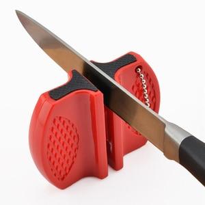 Image 3 - Портативная мини точилка для кухонных ножей, кухонные инструменты, аксессуары, креативный Тип бабочки, двухступенчатая точилка для карманных ножей для кемпинга