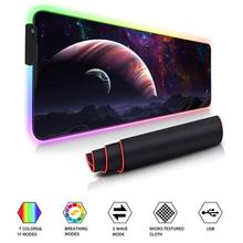 Gaming Mouse Pad RGB Large Mouse Pad 80*30cm Big Mouse Mat Computer Mousepad Led Backlight Surface Mause Pad Keyboard Desk Mat