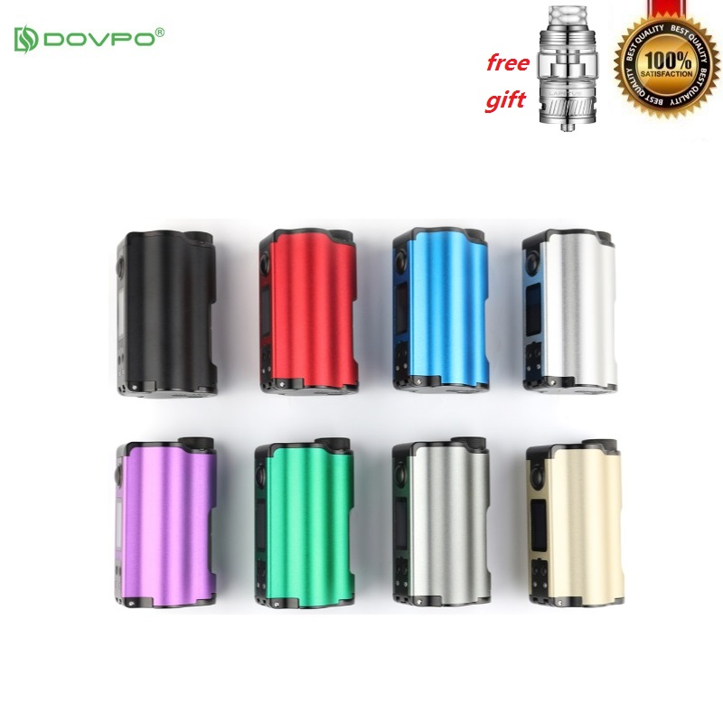 Original DOVPO Topside double 200W Squonk boîte Mod Top avec 10ml bouteille électronique Cigarettes Mods VS Voopoo glisser 2 Luxe Vape Mod