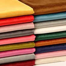 50*153cm Velvet Fabric Soft Velvet Plush Fabric Dress Cloth DIY Wallet Tablecloth Curtains Pillow Sofa Cloth