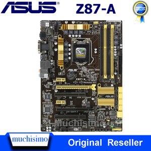Asus Z87-A Intel Z87 материнская плата LGA 1150 DDR3 32 Гб PCI-E 3,0 настольный процессор Core i7 i5 i3 SATA III Asus Z87-A материнская плата Б/у