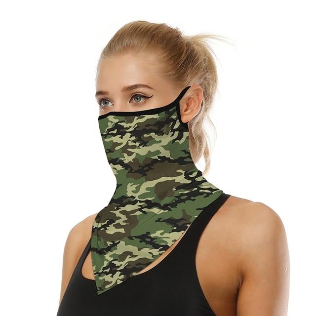 Women's Men's Solid Color Multi-function Seamless Quick-drying Visor Anti-sweat Belt Bandana Camera Protective Sleeve Outdo J